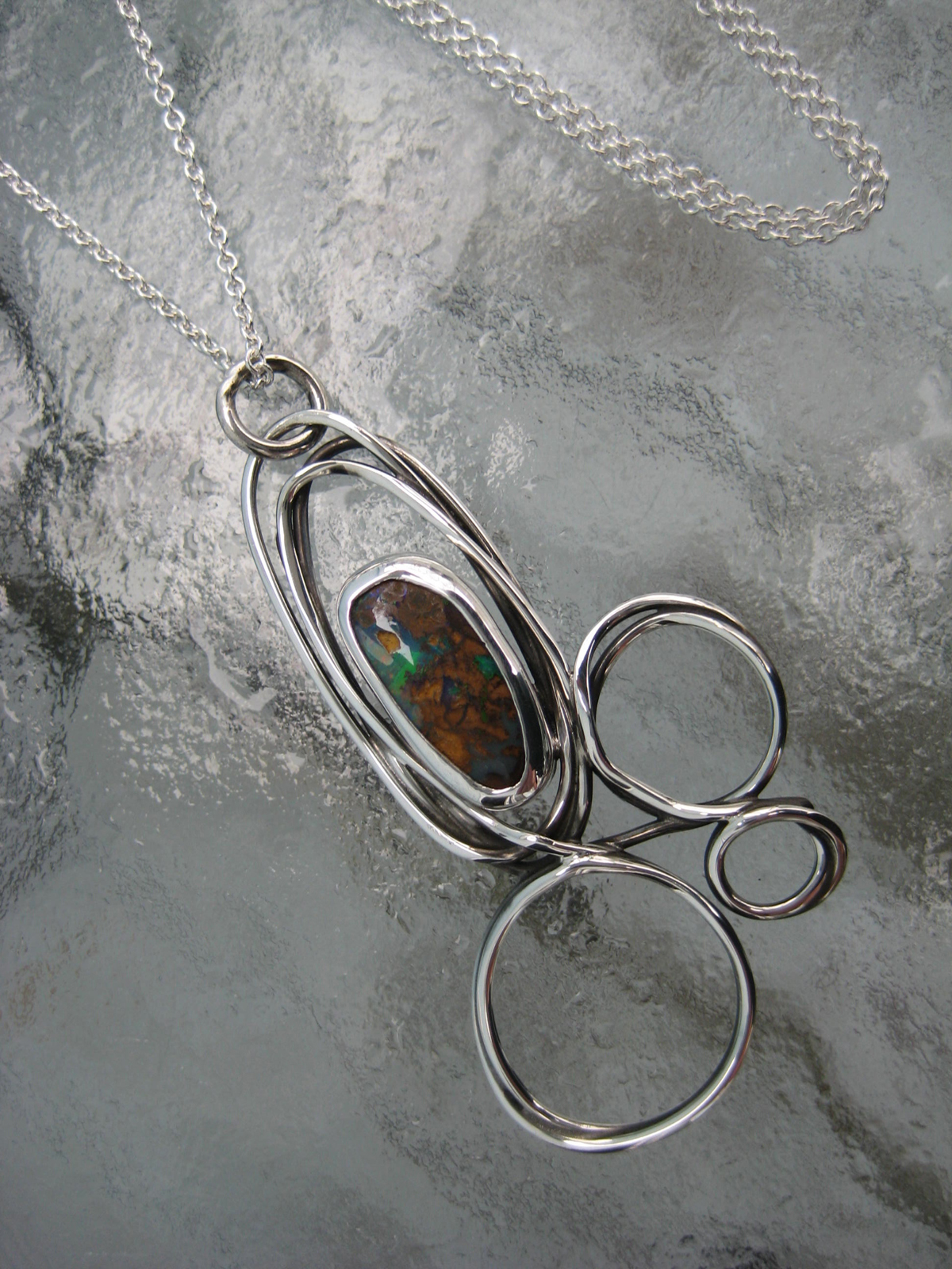 scribble opal necklace
