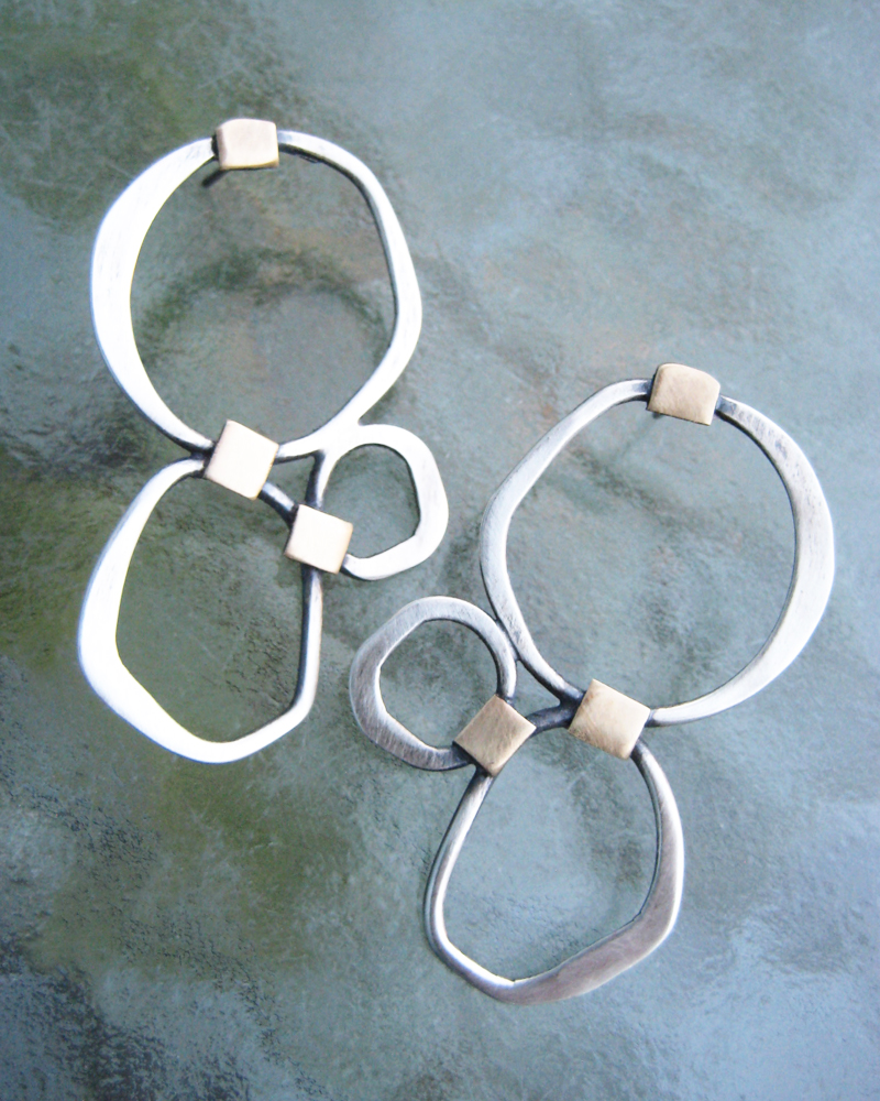 fused circles with brass